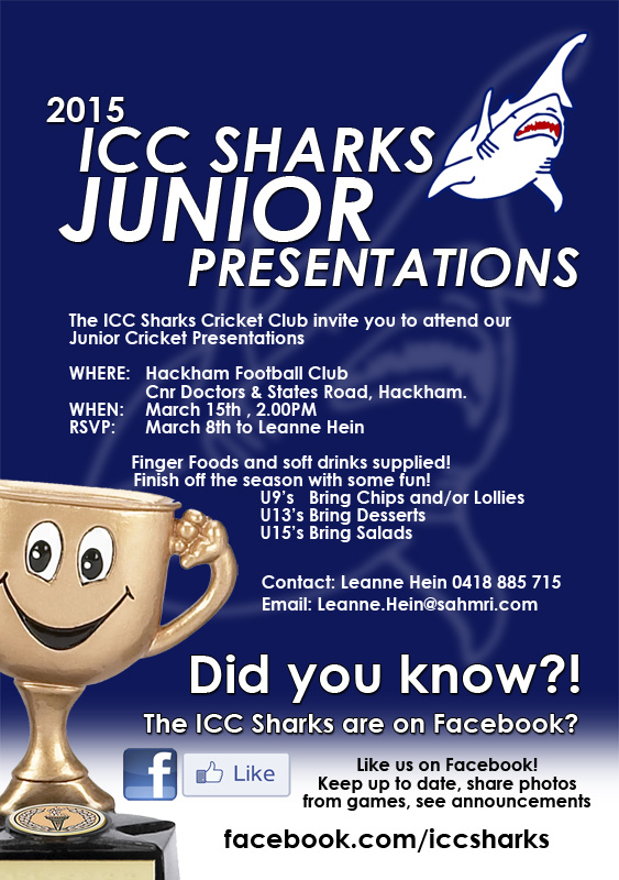 ICC Sharks Junior Presentations 2015 web