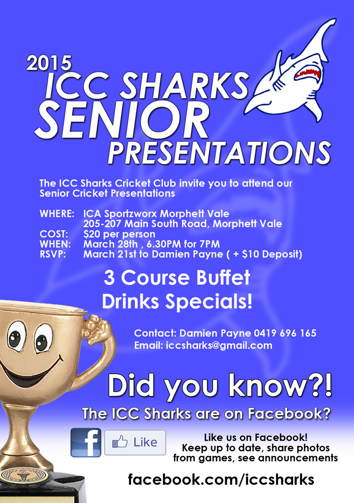 ICC Sharks Senior Presentations 2015 - web